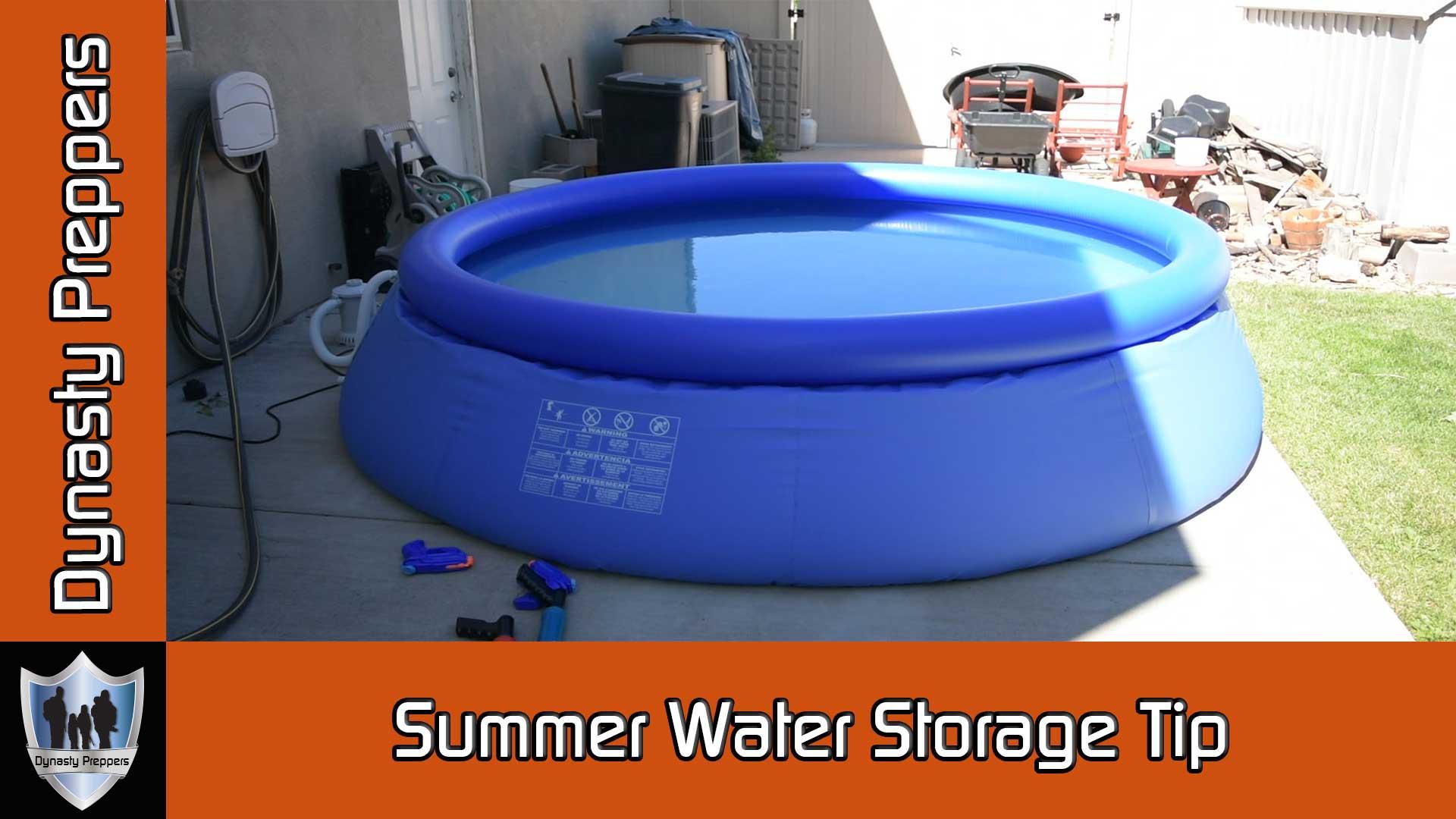 Dynasty Preppers Llc Summer Water Storage Tip Dynasty