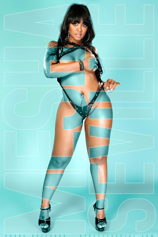 Mesha Seville: In Next Issue of SHOW Black Lingerie - courtesy of Frank Hotsauce