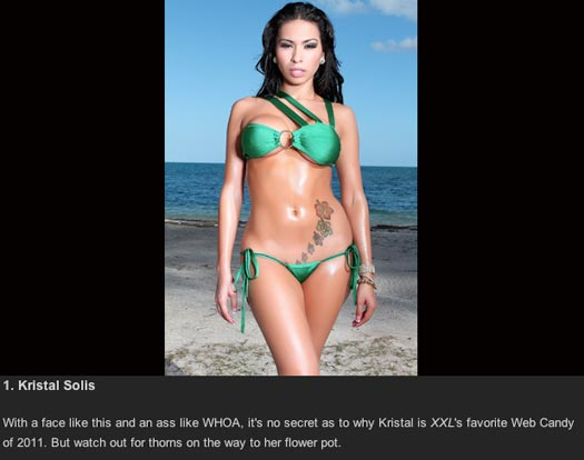 Kristal Solis named XXL Hottest Web Candy Girls of 2011