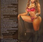Roxy Milan in the latest issue of Straight Stuntin