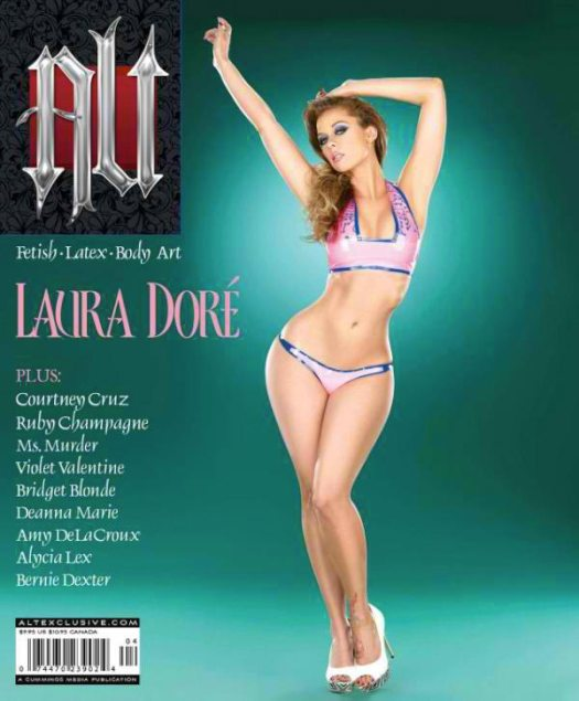 Laura Dore on the cover of Alt Magazine