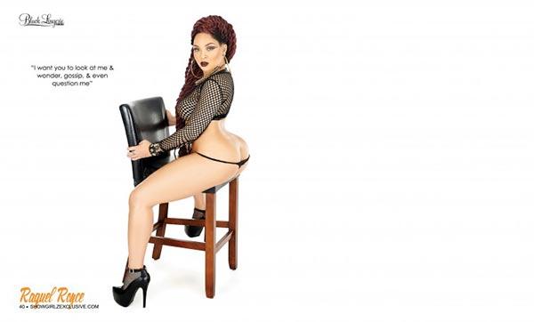 Raquel Royce @_yella_cake in SHOW Magazine Black Lingerie #24