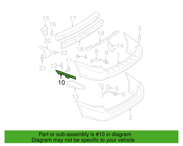 Upper Bracket Subaru 57717ag07a Subaru Parts