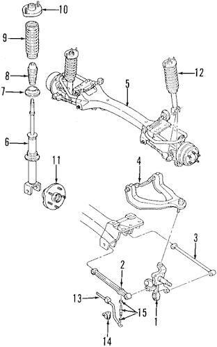 1999 dodge durango suspension control arm front left upper front right