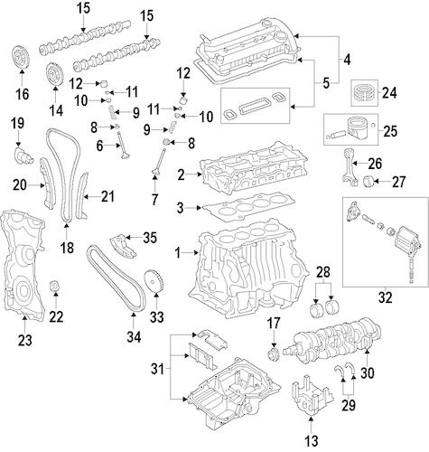 2010 ford fusion 2.5l engine diagram