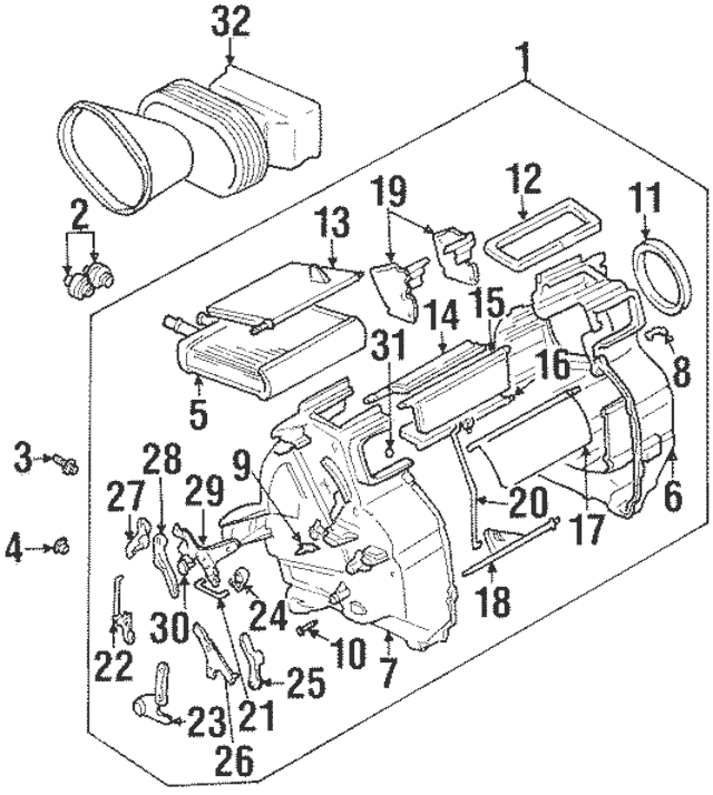 1998 suzuki esteem radiator diagram