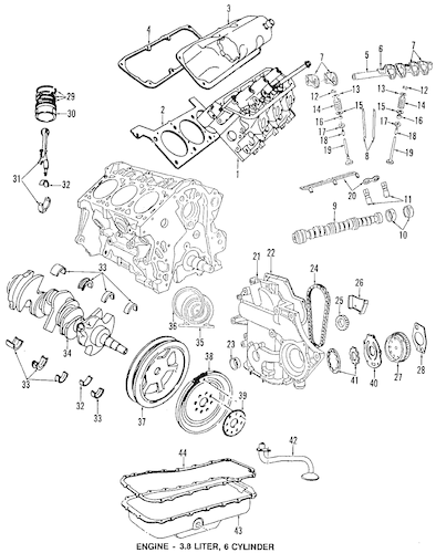 chrysler pacifica 4 0 Motor diagram