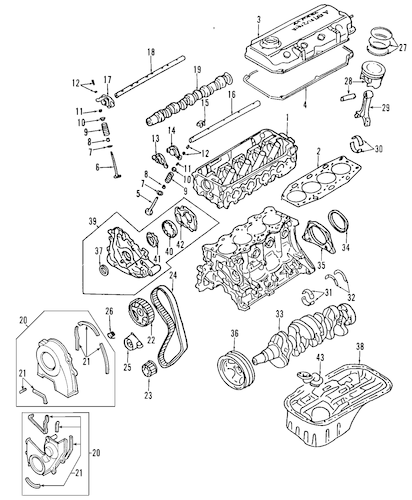 mitsubishi expo engine diagram