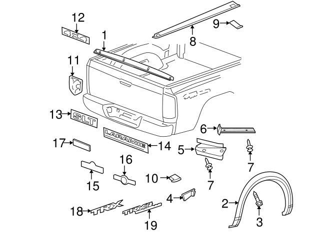 dodge ram wiring in tailgate