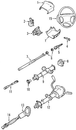 2002 chevy silverado steering column