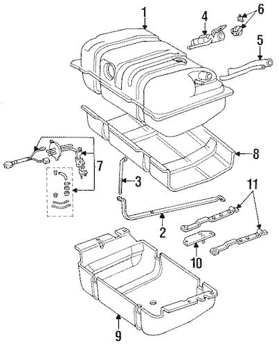 jk jeep fuel tank mounts