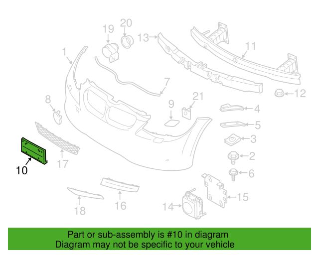 License Bracket Bmw 51 11 7 227 941 My Bimmer Parts