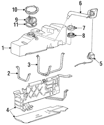 ford ranger fuel filter part number