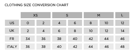 Shop Abroad With These Clothing Size Conversion Charts Chart and - shipping manual template