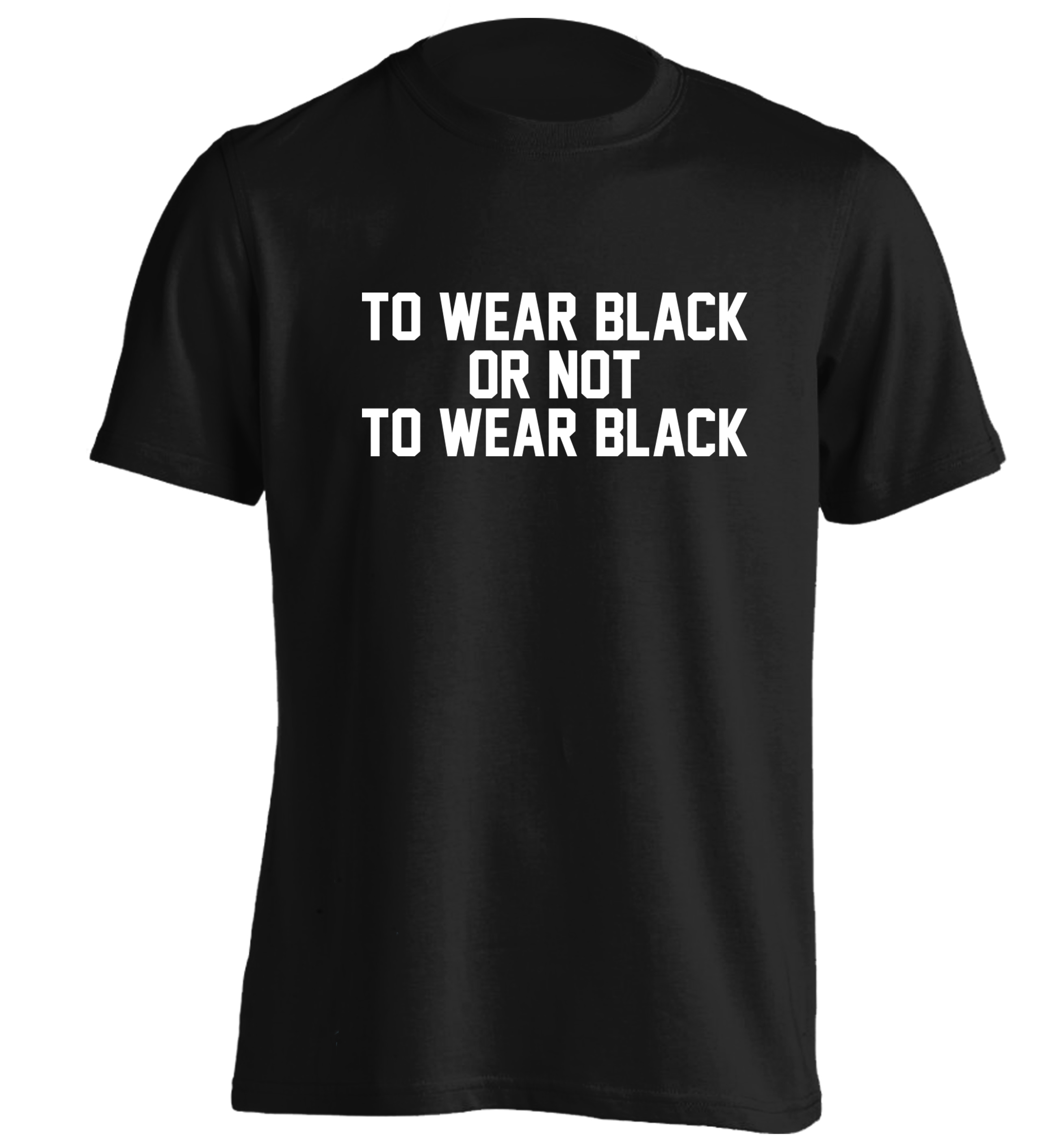 To wear black or not to wear black t shirt grunge tumblr instagram hipster slogan funny