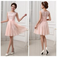 Lace bridesmaid dresses, short bridesmaid dresses, chiffon ...