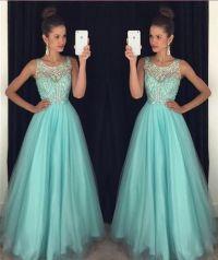 Off shoulder blue Prom Dress, long Prom Dress, beaded Prom ...