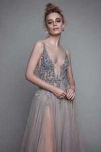 Ball Gown Gray Prom Dresses Grey LonCharming Prom Dress ...