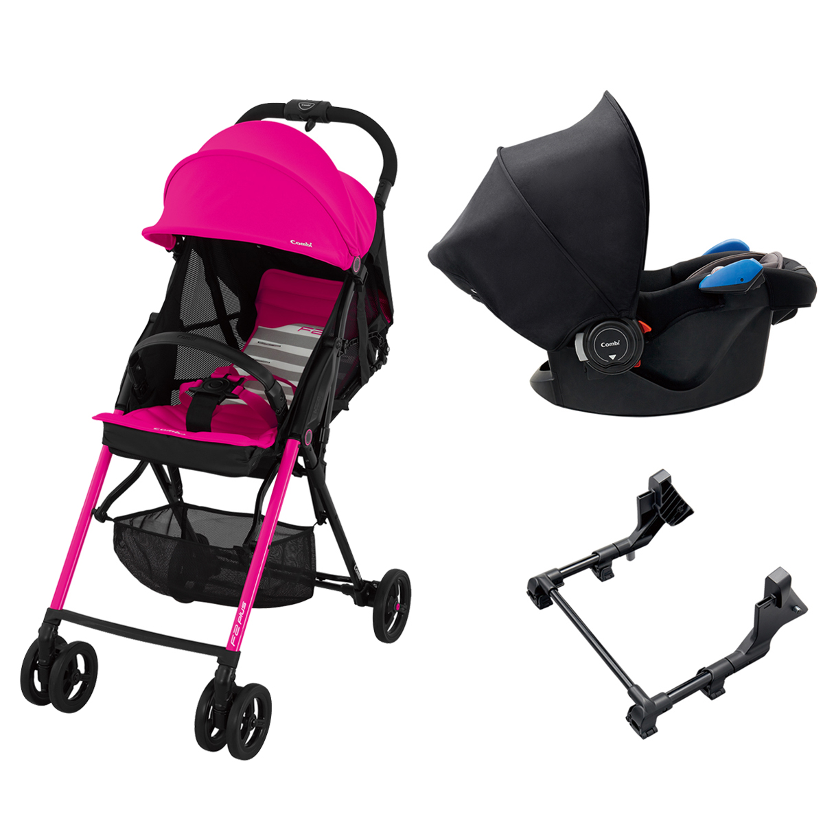 Newborn Car Seat And Stroller Set Aprica Japan Combi Buggy F2plus Af F2 Travel System