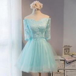 Elegant Wedding Tiffany Blue Dresses Cheap Off Shoulder Homecoming Lace Homecoming Tiffany Bluehomecoming Prom Off Shoulder Homecoming Lace Homecoming Tiffany Blue Tiffany Blue Dress