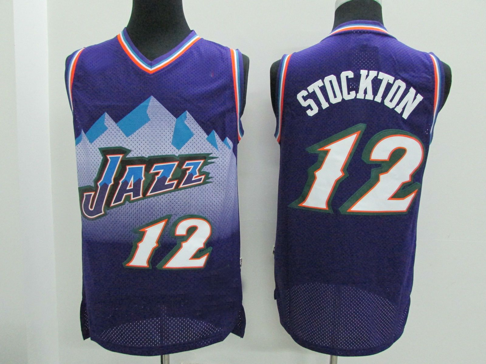 Retro Jerseys Utah Jazz Retro Jerseys 12 Stockton Purple Throwback Basketball Jersey From Fans4store