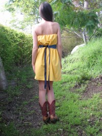 Gold Yellow Country Chic Bridesmaid Dress  CGheaven ...