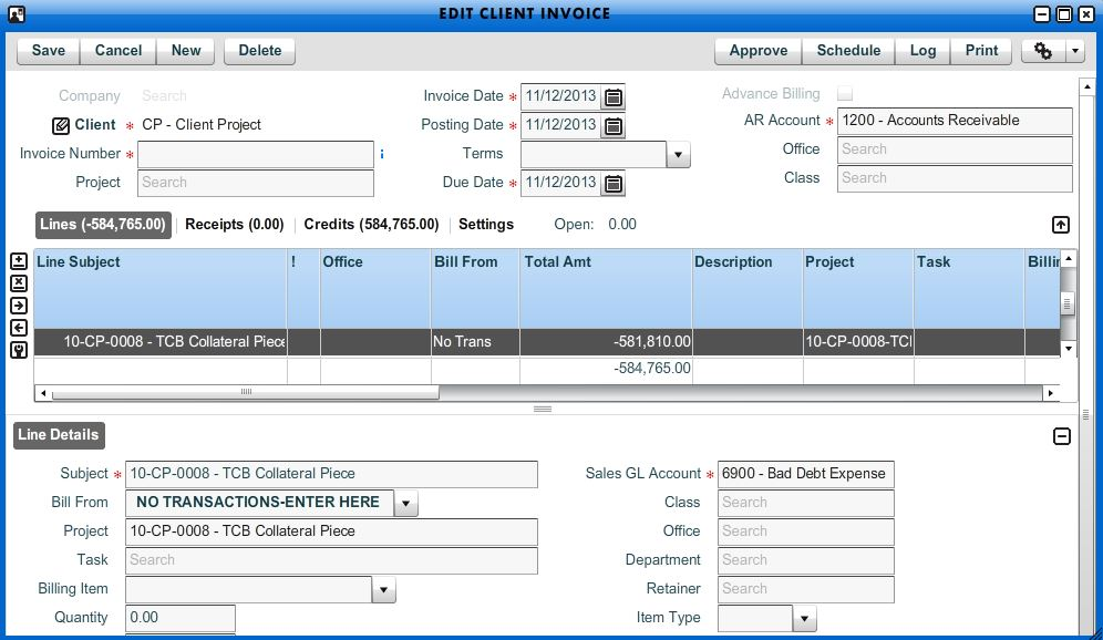 Write Off Client Invoice - Workamajig Online Help Guide