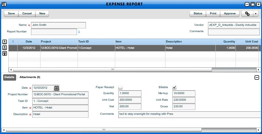 Add New Expense Report - Workamajig Online Help Guide - expense report