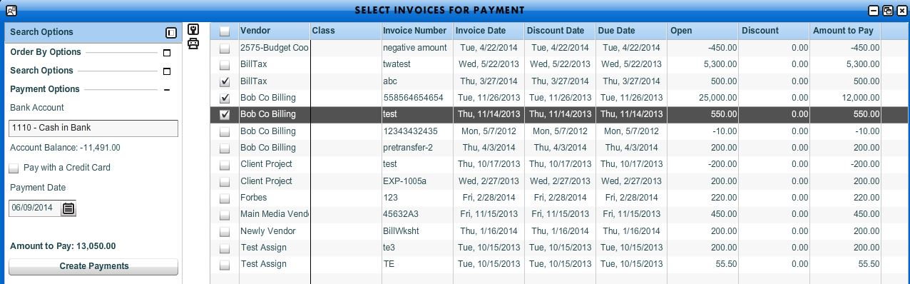 Select Invoices For Payment - Workamajig Online Help Guide