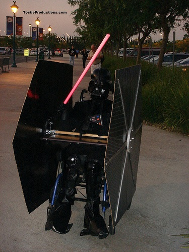 Darth Vader Tie Fighter wheelchair Costume