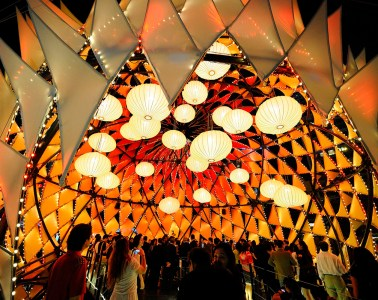 Golden Moon - Temporary architectural structure designed by Lead