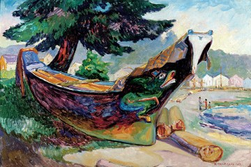 Indian War Canoe (Alert Bay)-emily-carr