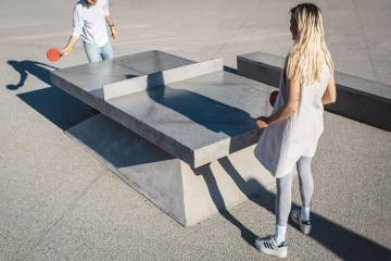 Monoliths - A concrete sculptural Ping Pong Table and Bench - 02