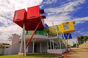 Shipping container library and clinic in Indonesia designed by DPavilion Architects - 01