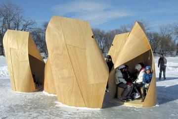 Warming huts in Winnipeg by Patkau Architects