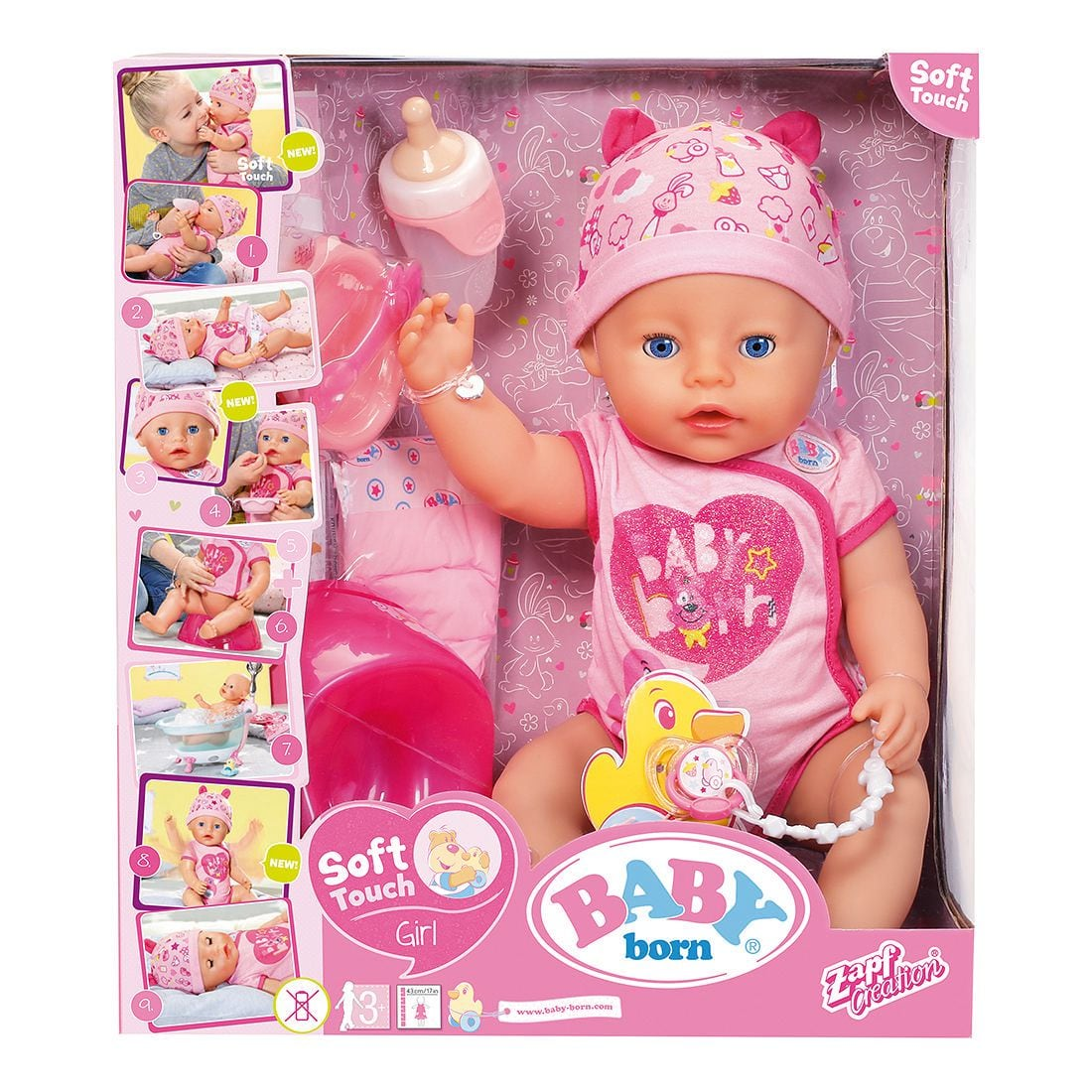 Baby Dolls Vip Baby Born Soft Touch Doll Girl