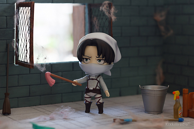 Attack On Titan Cute Wallpaper Nendoroid Levi Cleaning Version Tokyo Otaku Mode Gallery