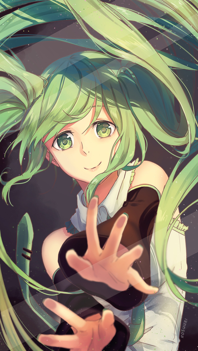 Cute Cartoon Boy And Girl Wallpapers Miku Trapped In Your Phone Tokyo Otaku Mode Gallery