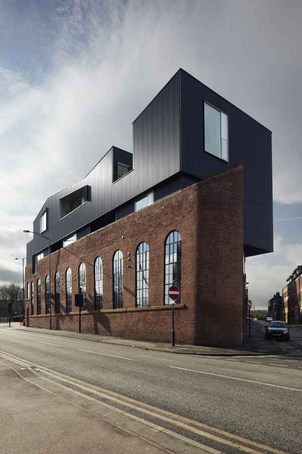 Contemporary Vs Modern Shoreham Street - Brick Building In Sheffield - E-architect