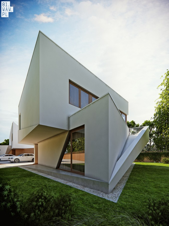 Traditional Modern Living Room Semi-detached House Wilanów, Polish Residence - E-architect