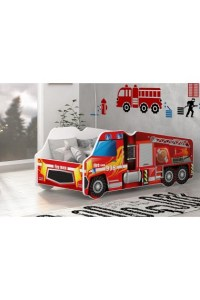 Lit camion Pompier 140x70 cm