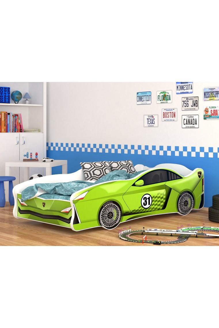 Letti Per Bambini A Forma Di Automobile.Letti Bambini Cars Letto A Macchinina Rosso In Legno Per Bambini