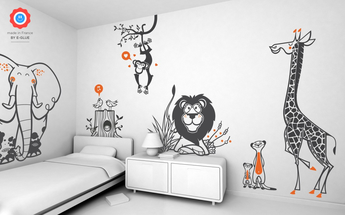 Sticker Chambre Enfant Stickers Enfant Savane