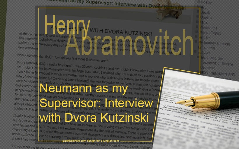 Interview by Henry Abramovitch with Dvora Kutzinski Neumann as my