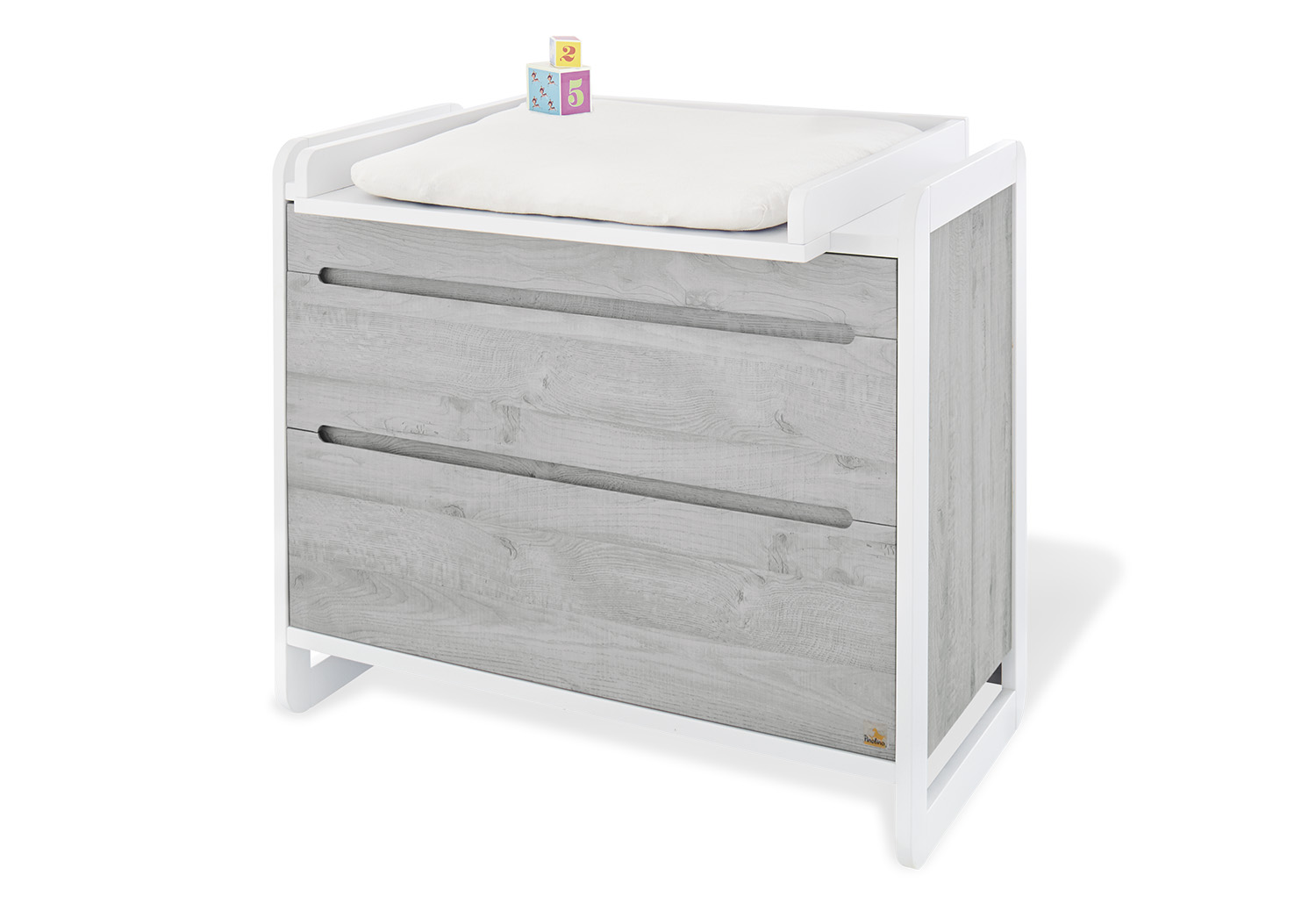 Commode Gris Anthracite Lit Bébé Et Commode à Langer Curve Gris