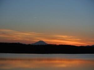 日の入り_多摩湖
