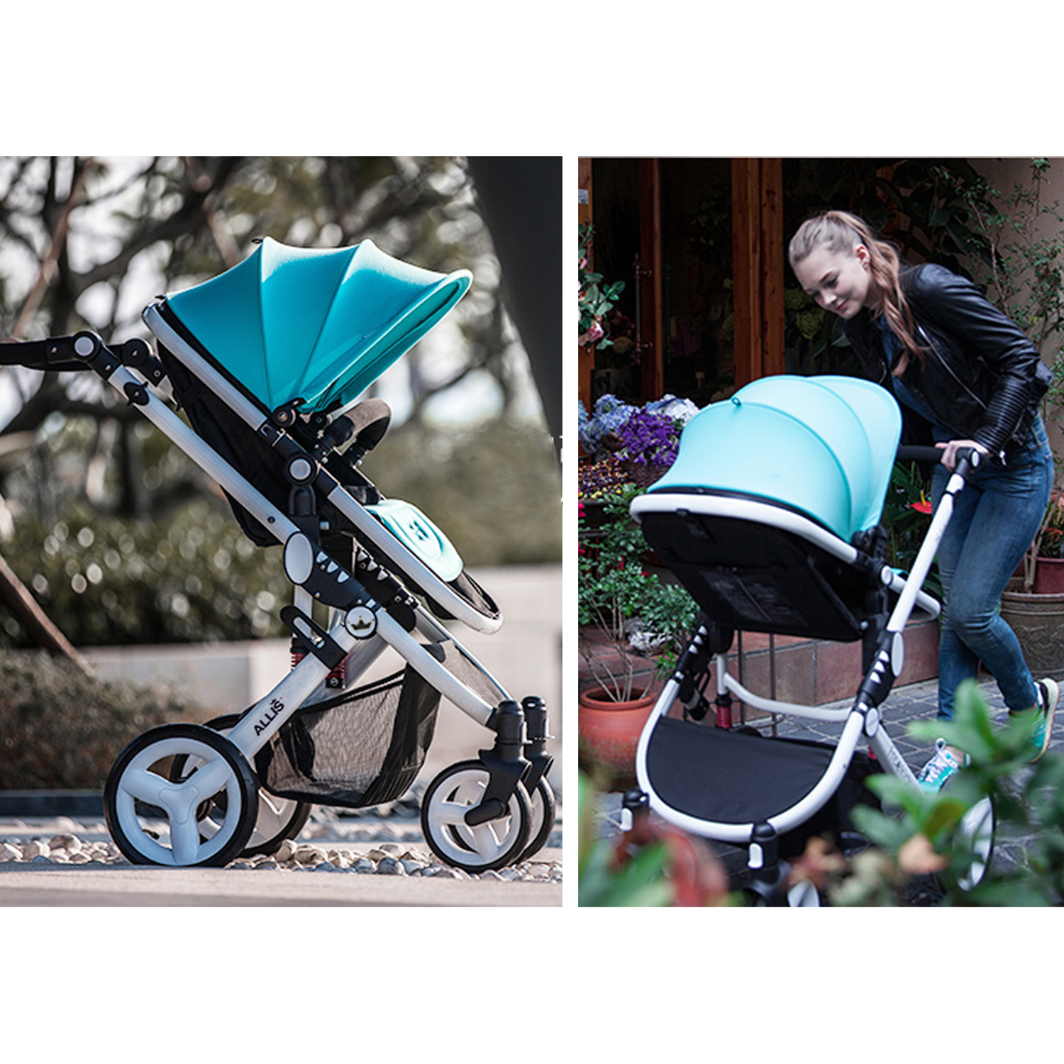 Travel Buggy Suitable From Birth Allis Baby Pram Pushchair Buggy Stroller Carry Cot Travel