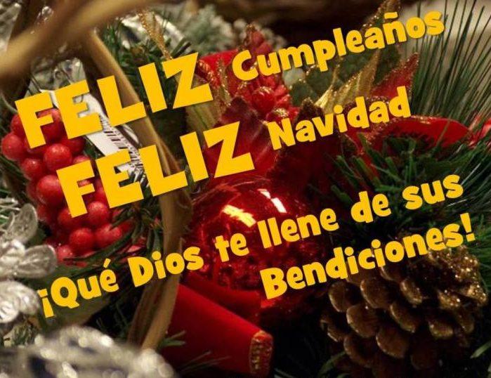 Postal Feliz cumpleaños y feliz Navidad