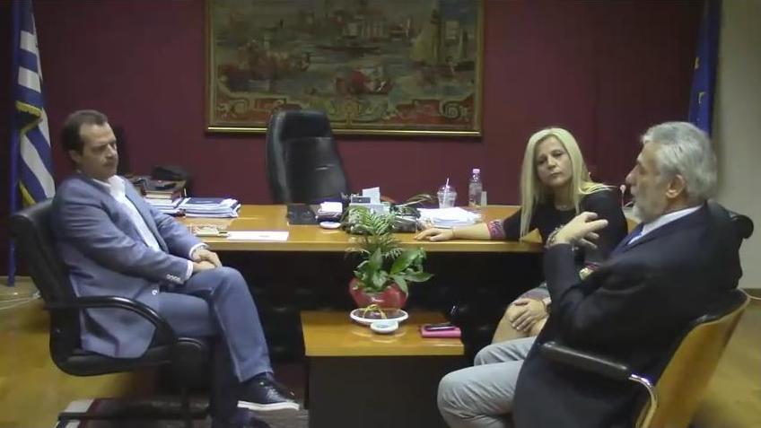 Από τη χθεσινή συνάντηση του κ. Δέδε με τον Δήμαρχο Αλμυρού Δημ. Εσερίδη, παρουσία της Αντιπεριφερειάρχη Μαγνησίας Δωροθέας Κολυνδρίνη