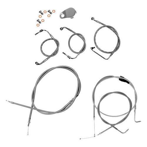 $30995 La Choppers Cable/brake Lines Ape 15-17 Ss Flst #167036